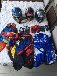 Motocross riding gear - prices listed on each item