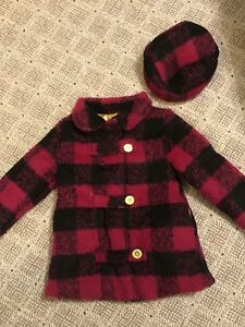 Pink Coat with Hat Size 4
