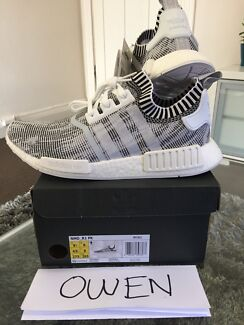 Adidas NMD R1 Glitch White mens sneakers