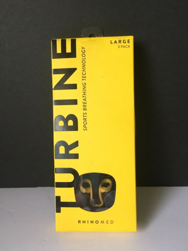 Rhinomed Turbine Nasal Dilator for Athletic Breathing Improves Airflow NEW Large
