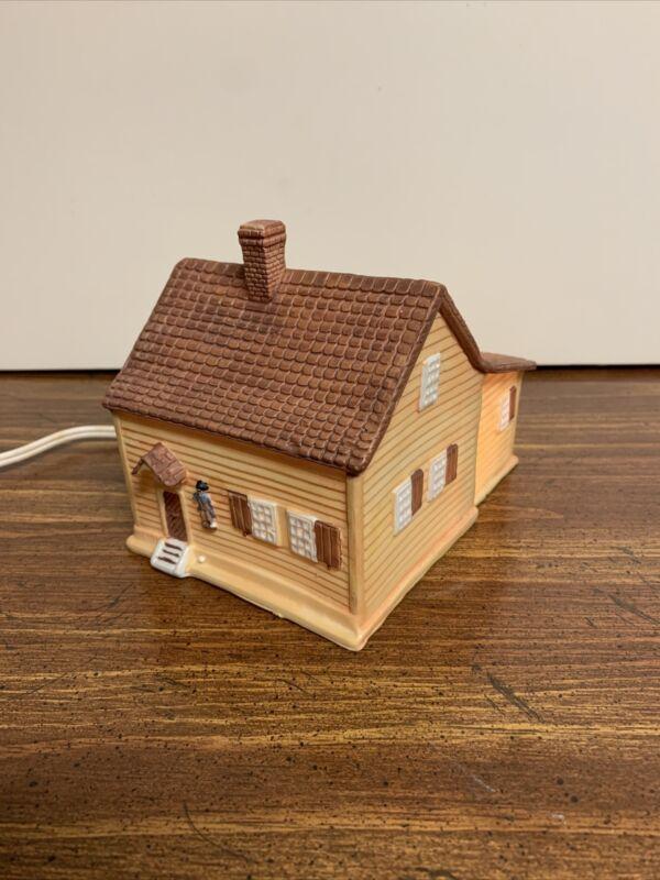 Old Salem Series - Miksch House And Shop - Light Up Village Piece. Bran-ken