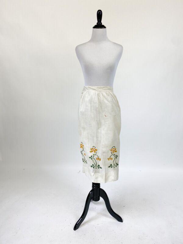 Lot Of 3 Antique Edwardian 1900s Cotton Textile Farm Servant Aprons