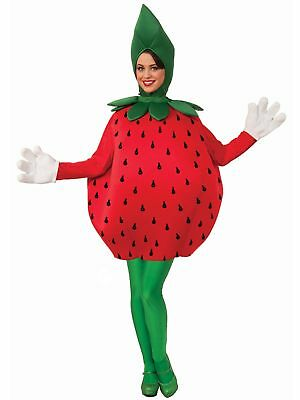 Strawberry Adult Costume Unisex Red Summer Fruit Halloween Men Women Mascot - Adult Fruit Costume