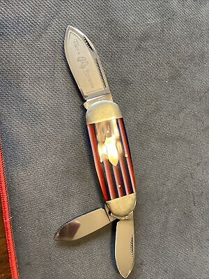 Fight'n Rooster Red White & Blue Elephant Toe/Sunfish Whittler Knife