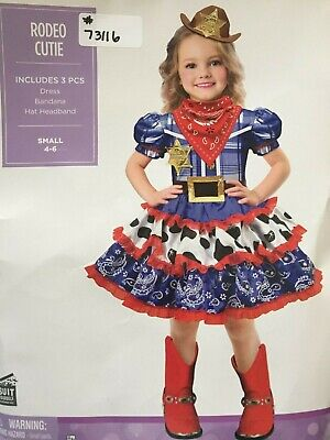 Cowgirl Dresses For Little Girls (RODEO CUTIE FOR LITTLE GIRLS DRESS BANDANA HEADBAND COWGIRL BRAND NEW SIZE)