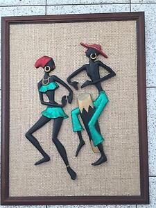 Fabulous vintage Retro  wall art Carved Calypso figures dressed i Northmead Parramatta Area Preview
