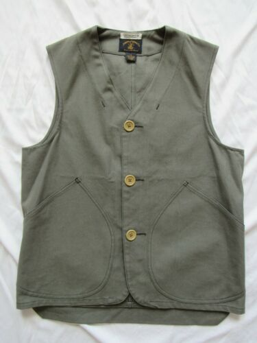 Vtg Banana Republic For Joseph Morse Co. Hunting Safari Vest Canvas Sz S Green