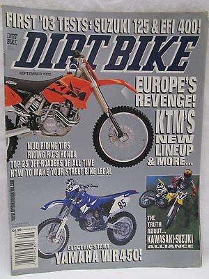 Dirt Bike Magazine Sept. 2002 Mud Riding Tips How To Make Your Street Bike Legal