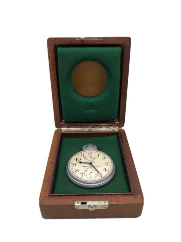 WWII 1941 Hamilton Bureau Of Ships U.S. Navy Chronometer Watch Model 22 - Works