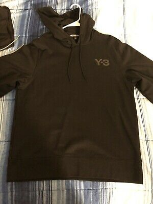 Adidas Y-3 Yohji Yamamoto Mens L Black Pullover Sweater Hoodie Sweatshirt