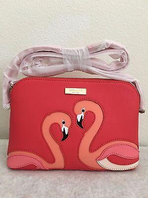 Kate Spade take a walk on the wild side hanna Flamingo Crossbody bag Purse $228