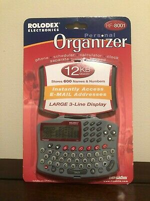 Rolodex Electronics Rf-8001 Personal Organizer - Phone Scheduler Calculator