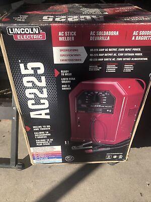 Lincoln Electric 225 Amp Ac Arc Stick Welder Ac225 Brand New