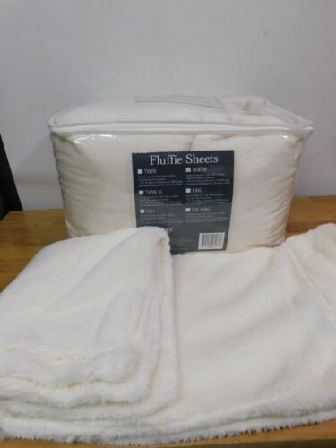 Berkshire Blanket Fluffie Sheet Set-Ivory-Queen-H216838-NIP