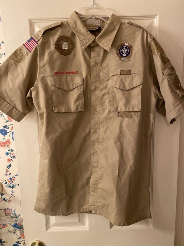 Boy Scout BSA UNIFORM SHIRT Adult Mens Medium Short Sleeve New Style D18