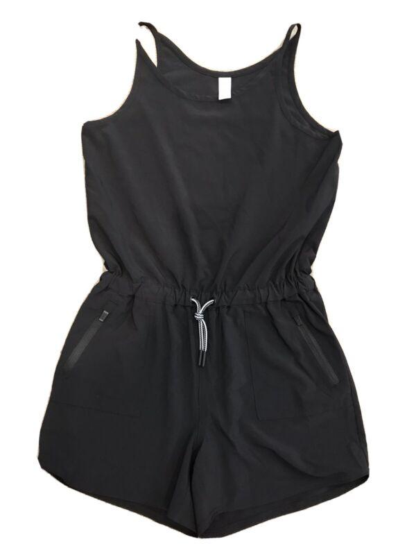 ATHLETA GIRL Girls On the Go Romper Size LARGE/12 solid Black