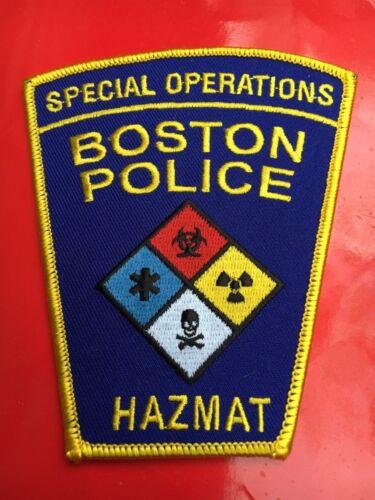 Special Operations Boston Massachusetts Police patch HAZMAT