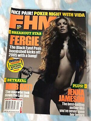 FHM Magazine Fergie~Black Eyed Peas Jan 2005~Jenna Jameson
