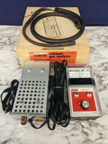 Vintage Sears Roebuck & Co Penske Exhaust Gas Analyzer Meter 244-21018 ECS