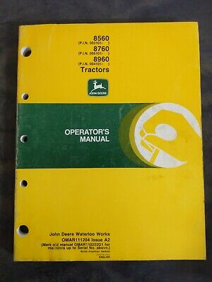John Deere 8560 8760 8960 Tractors Operators Manual