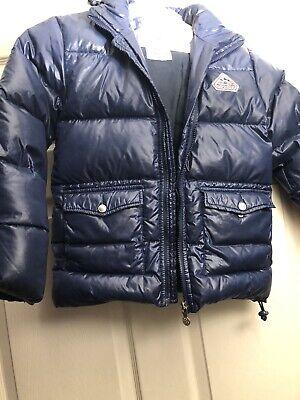 Pyrenex boys down winter jacket puffer Coat Size 10 Blue Very Warm