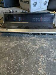 Magnavox Vintage Digital Flip Number Clock Radio Retro Style Black 1970's 1R1736