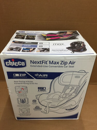 Chicco NextFit Max Zip Air Extened-Use Convertible Car Seat, Atmosphere