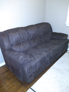Three Seater Suede Lounge + Two Recliners Kempsey Kempsey Area Preview