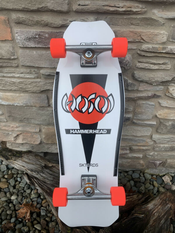 Hosoi O.G. Hammerhead Re-Issue White Custom Complete Skateboard