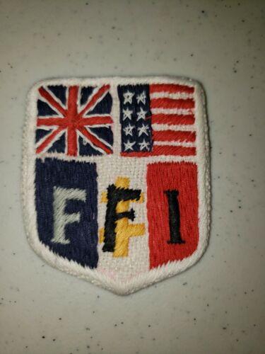 K1057 WW2 France French Military Sleeve Patch Free Parisian FFL L3B