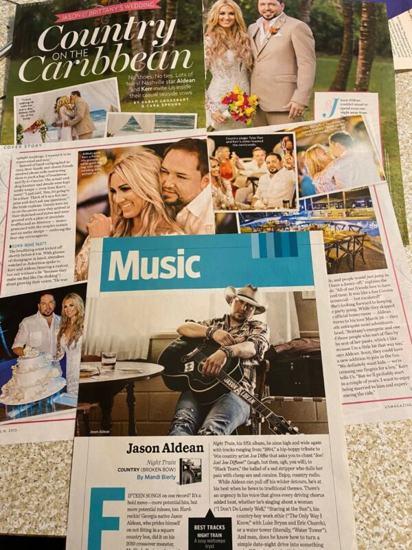 Jason Aldean, Lot of TWO Full and Four Page Clippings