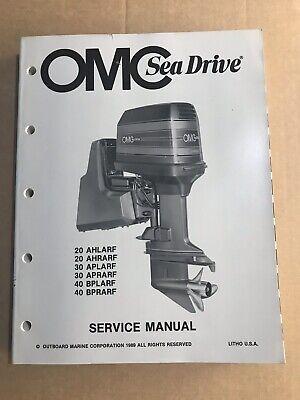OMC Sea Drive Service Manual 1989 20 30 40