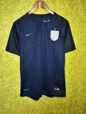 ENGLAND 2017 2018 AWAY FOOTBALL SOCCER SHIRT JERSEY NATIONAL TEAM NAVY BLUE