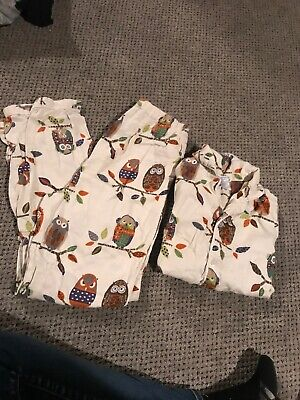 the company store Flannel Owl  Pajamas Kids Size