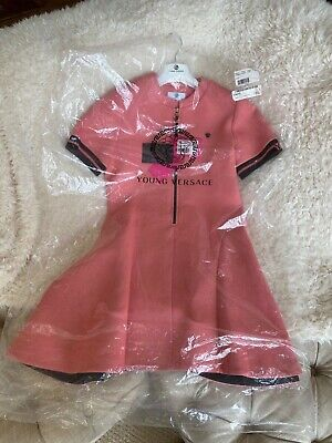 AUTHENTIC VERSACE YOUNG Pink dress || Large, new with tags.