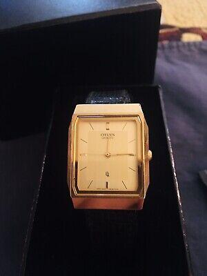CITIZEN Vintage Men's Watch w/ Gucci Band Beauty - Ready To Wear USA W Box
