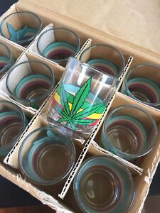 Marijuana shot glasses