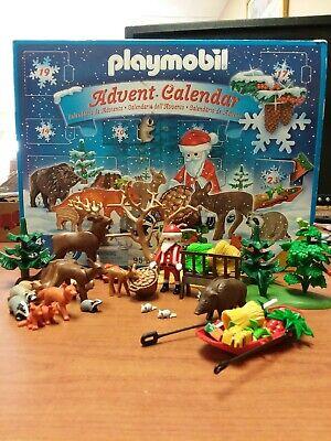 Geobra Playmobil Christmas Advent Calendar Santa Feed Forest Animals Box German