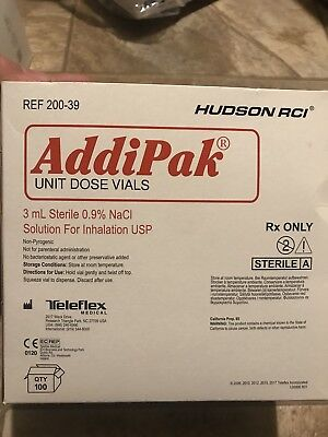 Addipak Sterile Saline Solution .9 3 Ml 100bx Hudson 200-39