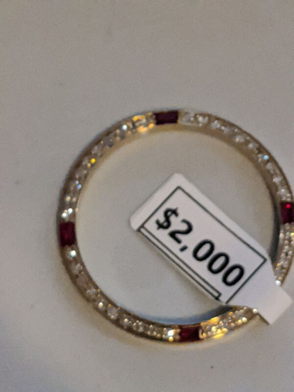 Custom Ruby & Diamond Bezel For Rolex 36MM DATEJUST OR PRESIDENT