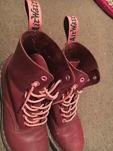 Maroon and Pink Doc Martens US Size 9 Hope Island Gold Coast North Preview
