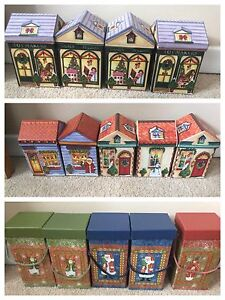 14 various Christmas boxes