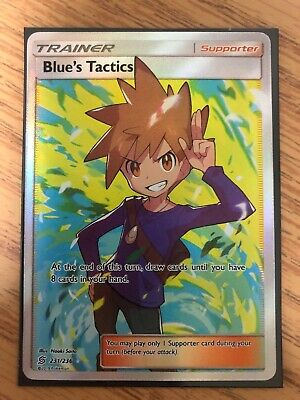 Blue's Tactics Full Art Trainer | Pokemon Card Unified Minds 231/236 | NM/M