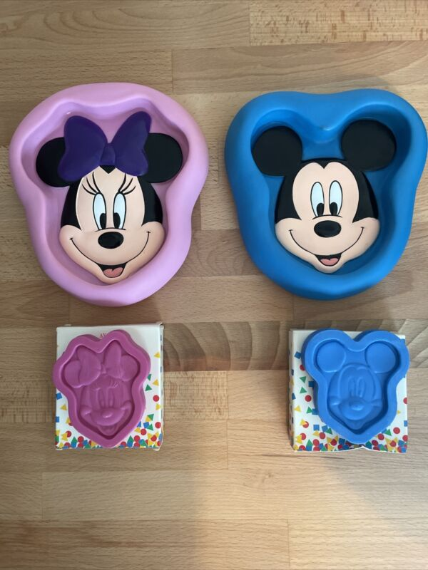 Avon Kids Mickey & Minnie Soap And Floating Soap Dish Set Vintage