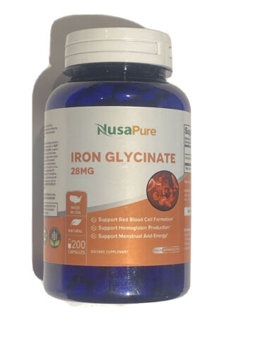 iron glycinate 28 mg dietary supplement 200