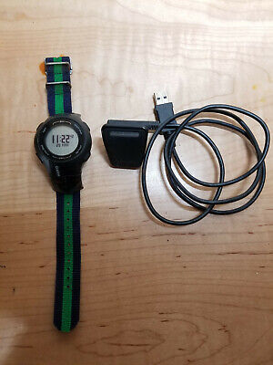 Garmin Forerunner 210 GPS watch with charging cable & modified band