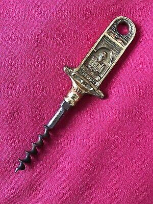 Vintage 1930s WILLIAM SHAKESPEAR Brass and Steel Cork Screw