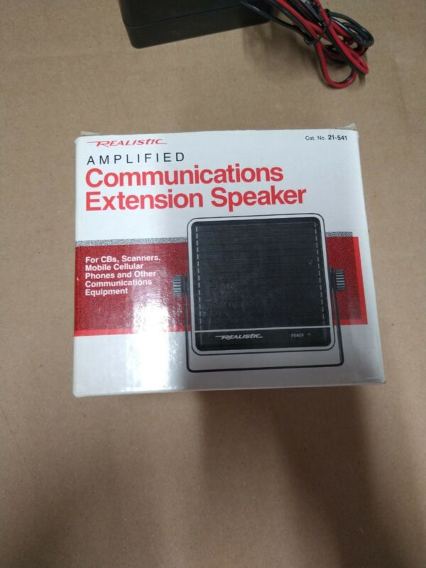 Radio Shack Amplified Communications Extension Speaker 21-541