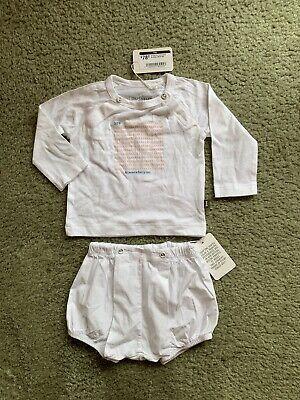 . nwt Imps & elf's organic cotton baby set 328 kisses 6-9 months bxs