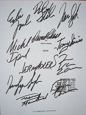 Sopranos Signed TV Script X11 James Gandolfini Edie Falco Imperioli reprint CAST